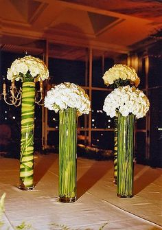 Tall Inexpensive Altar Arrangements or centerpieces