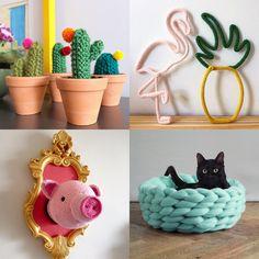 A tendência saiu das mãos das vovós diretamente para casas do mundo todo. Sim, o tricô e o crochê estão com tudo na decoração. Confira inspirações!