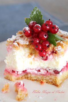 Porzeczkowy sernik z kwaśnej śmietany Cheesecake, Sweets, Cook, Cakes, Recipes, Gummi Candy, Cake Makers, Cheesecakes, Candy