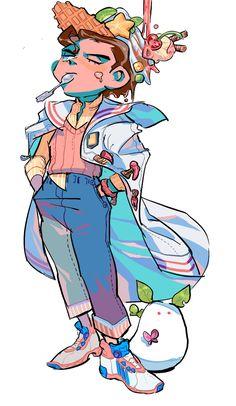 Dessert JOJO- Jotaro 2 || pixiv ⚡BUL⚡ || Diamond is Unbreakable Jojo's Adventure, Jojo Bizzare Adventure, Jojo's Bizarre Adventure Characters, Bizarre Art, Jojo Bizarre, Jojo Anime, Jojo Memes, Character Design, Fan Art