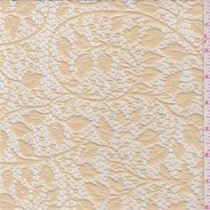 Golden Beige Vine Lace - 30915 - Fabric By The Yard At Discount Prices