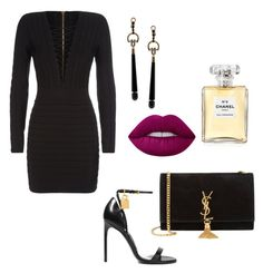 """Sem título #20"" by zainpassed on Polyvore featuring moda, Tom Ford, Balmain, Yves Saint Laurent, Lime Crime, Chanel e Gucci"