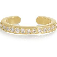 Anita Ko 18-karat gold diamond ear cuff ($1,325) ❤ liked on Polyvore
