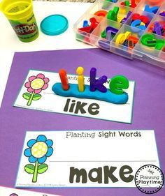 Looking for fun Sight Words Games for Kids? Play hands on sight words games. Use the interactive binders at home, school or on the go. Sight Words Games for Kindergarten - So Fun Sight Word Centers, Sight Word Activities, Preschool Learning Activities, Toddler Learning, Teaching Kids, Stem Activities, Teaching Sight Words, Preschool Sight Words, Activities For 5 Year Olds