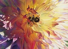 Radiant Floral Giclée by David Smith Watercolor ~ 22 x 30