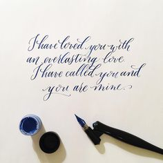 rachelanne.co Atlanta, GA modern calligraphy and lettering pointed oblique pen #modercaliigraphy