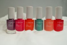 Blogger Mysterious M testing our new nail polishes. Don't you just love the shades! #nailpolish #lumene