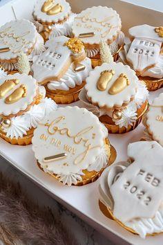 Baby Shower Cupcakes, Desserts, Food, Tailgate Desserts, Deserts, Essen, Postres, Meals, Dessert