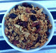 Clean Eating Maple Cinnamon Granola. So easy and contains no refined sugars!
