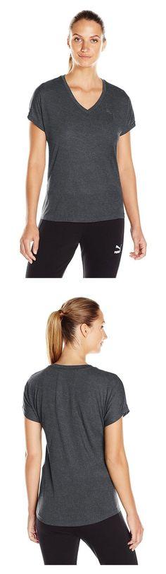 $16.99 - PUMA Women's Elevated Sporty Tee W Dark Gray Heather #puma