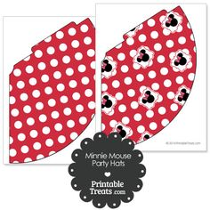 Printable Minnie Mouse Party Hats from PrintableTreats.com