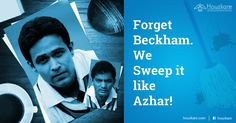 """Do you know what was Azhar's favorite shot?  The """"sweep"""". Get professional cleaning services from Houzkare and give your home a makeover!  #Sweep #CleanSweep #Houzkare"""