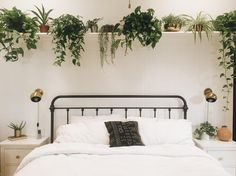 long shelf above bed @branchabode