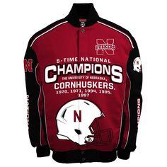Men's Franchise Club Nebraska Cornhuskers Champions Twill Jacket, Size: Large, Red
