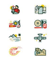 Thailand icons for Monocle by Matt Lehman Studio. Art direction: James Melaugh, Jay Yeo, Emma Chiu