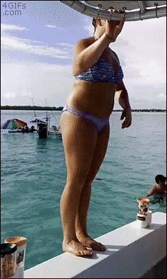 Share this A woman tries to do a backflip off the edge of a boat Animated GIF…