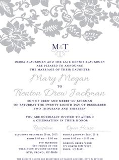 The Invitation Maker offers high quality custom wedding invitations