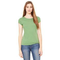 Bella + Canvas Women's Leaf Sheer Jersey Short-Sleeve T-Shirt