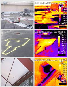 Infrared roof moisture survey is helps building managers to locate moisture problems. #roof_moisture