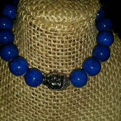 """Jade """"Dream Stone Enlightened """" buddha bracelet Handmade elastic genuine blue jade buddha bracelet. Jade is said to bless whatever it touches also known as the """"Dream Stone"""". After purchasing the listing please comment below what size you would like Jewelry Bracelets"""