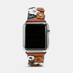 AppleWatch Coach Watch Band - Tea Rose Applique Leather Blooms Strap Apple Band, Iphone Watch, Iphone Clock, Iphone Case, Apple Watch Straps, Designer Watches, Designer Bags, Apple Watch Accessories, Phone Accessories