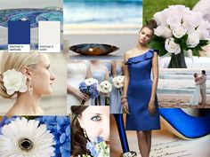 BLUE SAPHIRE WEDDING : PANTONE WEDDING Styleboard : The Dessy Group cute brides maid dress