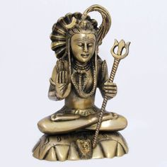 Amazon.com: IndianDeities Shiva Statues and Sculptures Gifts Idea Brass Figurine 4.25 X 3 X 6 Inches: Home & Kitchen