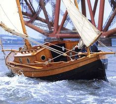 Wooden sailing... a fine sea boat...