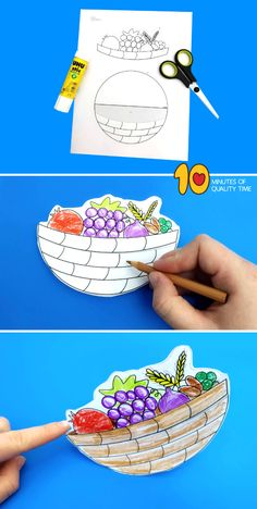 Fruits And Vegetables Pictures, Vegetable Pictures, Easy Arts And Crafts, Crafts To Do, Crafts For Kids, Gingerbread Man Crafts, Teddy Bear Crafts, Fruit Crafts, Basket Crafts