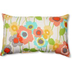 Pillow Perfect Pic-A-Poppy Cotton Lumbar Pillow (€26) ❤ liked on Polyvore featuring home, home decor, throw pillows, pillows, cushions, flower stem, floral throw pillows, poppy throw pillows, rectangular throw pillows and flower throw pillow