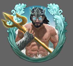 Slot Game Icon - Poseidon by TheArtOfSanhueza on deviantART
