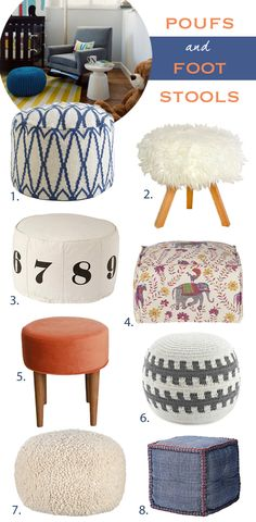 Poufs and Foot Stools « Spearmint Baby