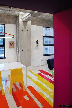 Floor. 'Prismatic Colours' Loft // Jean Verville | Afflante.com