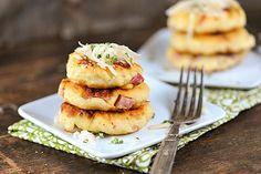 Ham and Cheese Potato Pancakes recipe