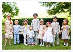We will have something similar but a picture of all the babies 1 and under at our wedding ( we estimate about 15 and want to document it ) :)