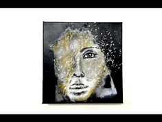 Abstract Portrait Mixed Media Canvas Video Tutorial + Full list of supplies