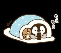 Penguin Images, Penguin Love, Cute Penguins, Cartoon Drawings, Cute Drawings, Minimal Drawings, Cartoon Coloring Pages, Love Stickers, Kawaii Art