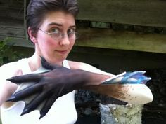 Mini Webbed Gloves tutorial. I love the way the hands look, although the fins leading off of the arms look strange.