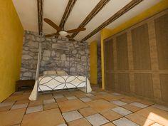 Condo master bedroom. Hacienda del Rio. Playa del Carmen real estate