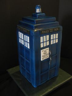 Dr. Who Tardis Cake-By The Mad Platters