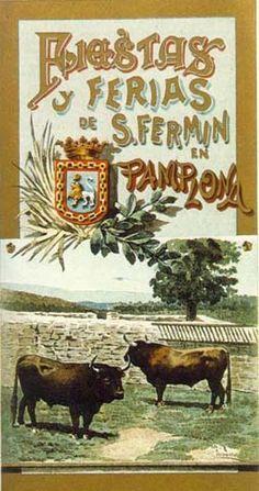 Cartel Sanfermines 1897 - Fiestas y ferias de San Fermín,  #Pamplona
