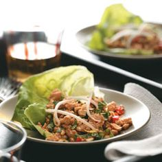 Chicken Lettuce Cups - SO delish!  Great for a party!!