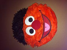 Elmo, Abby, sesame street 2nd birthday party :)  Ernie Pom Pom face