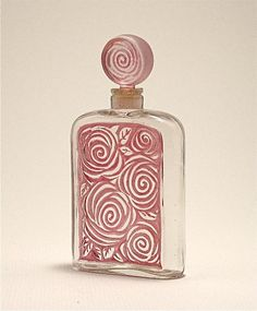 1920s French Perfume Bottle with Roses