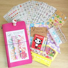 Hello!!Hello!! Planner Kit is a planner starter kit contains the below paper suppliers suits for your planner/schedule/travel notebook decor~