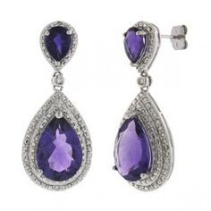 Allurez offers the finest selection of Diamonds and fine jewelry. 14k White Gold Earrings, Amethyst Earrings, Drop Earrings, Rhinestone Jewelry, Vintage Rhinestone, Crystal Fashion, Jewelry Collection, Jewelry Rings, Fashion Jewelry