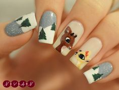 notyouraveragenails:  Rudolph It's Christmas Eve! I hope you'r