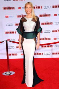 Gwyneth Paltrow at Iron Man 3 Premiere #bestdressed #silkygreen