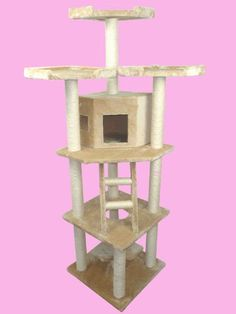 "Beige 76"" Cat Tree Condo Furniture Scratch Post Pet House BestPet http://www.amazon.com/dp/B003XLQGYM/ref=cm_sw_r_pi_dp_Ug3kub1BSEHYX"