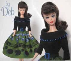 Coffee House Jazz - Vintage Barbie Doll Dress Reproduction Repro Barbie Clothes